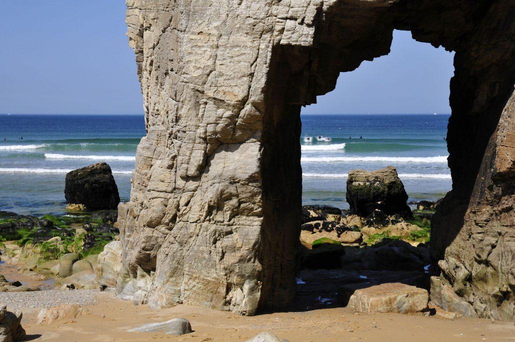 Arche de Port Blanc, Presqu'île de Quiberon, Morbihan, Bretagne